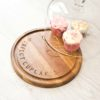 Personalised Wood & Glass Dome Cup Cake Platter