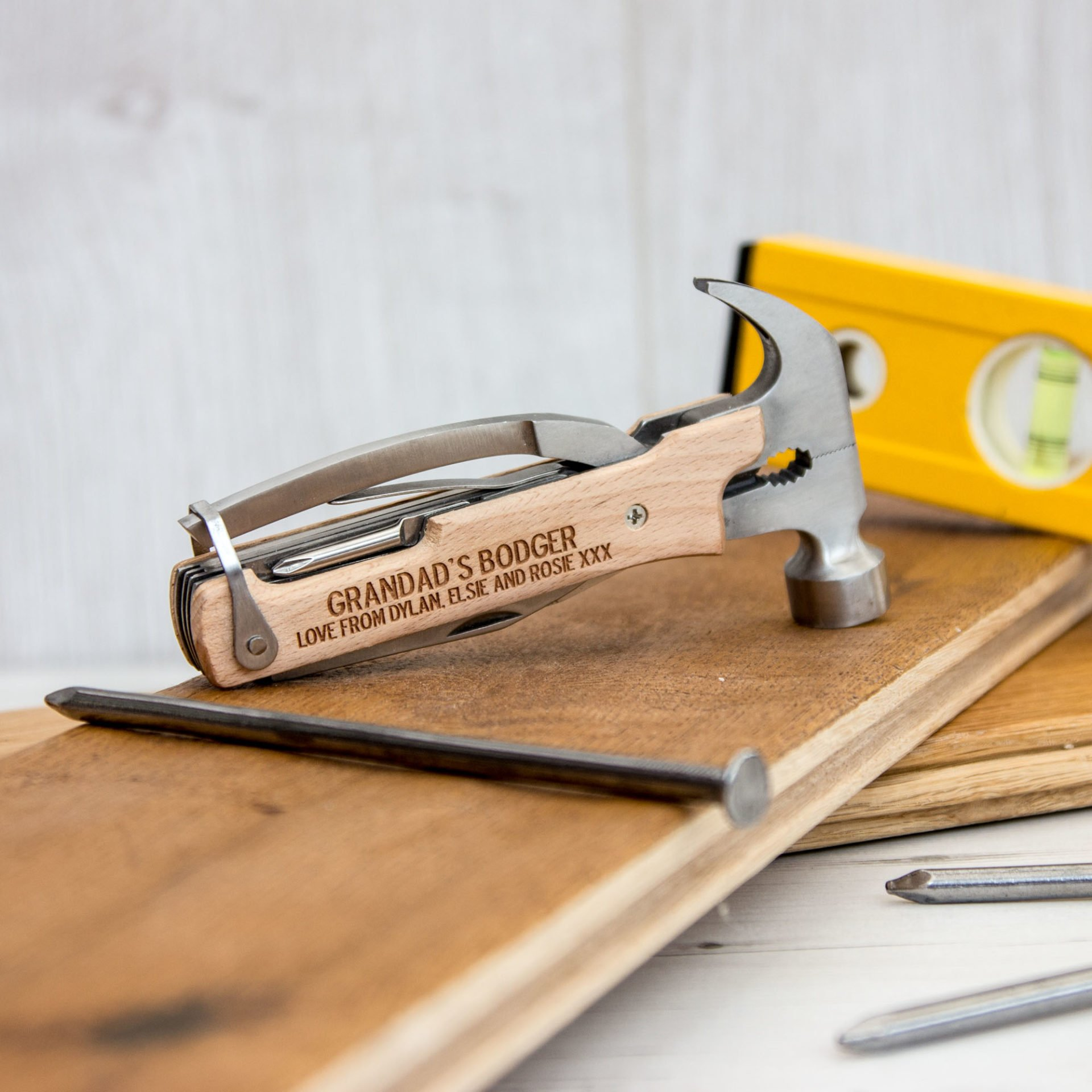 Personalised Hammer Multi Tool The Laser Boutique