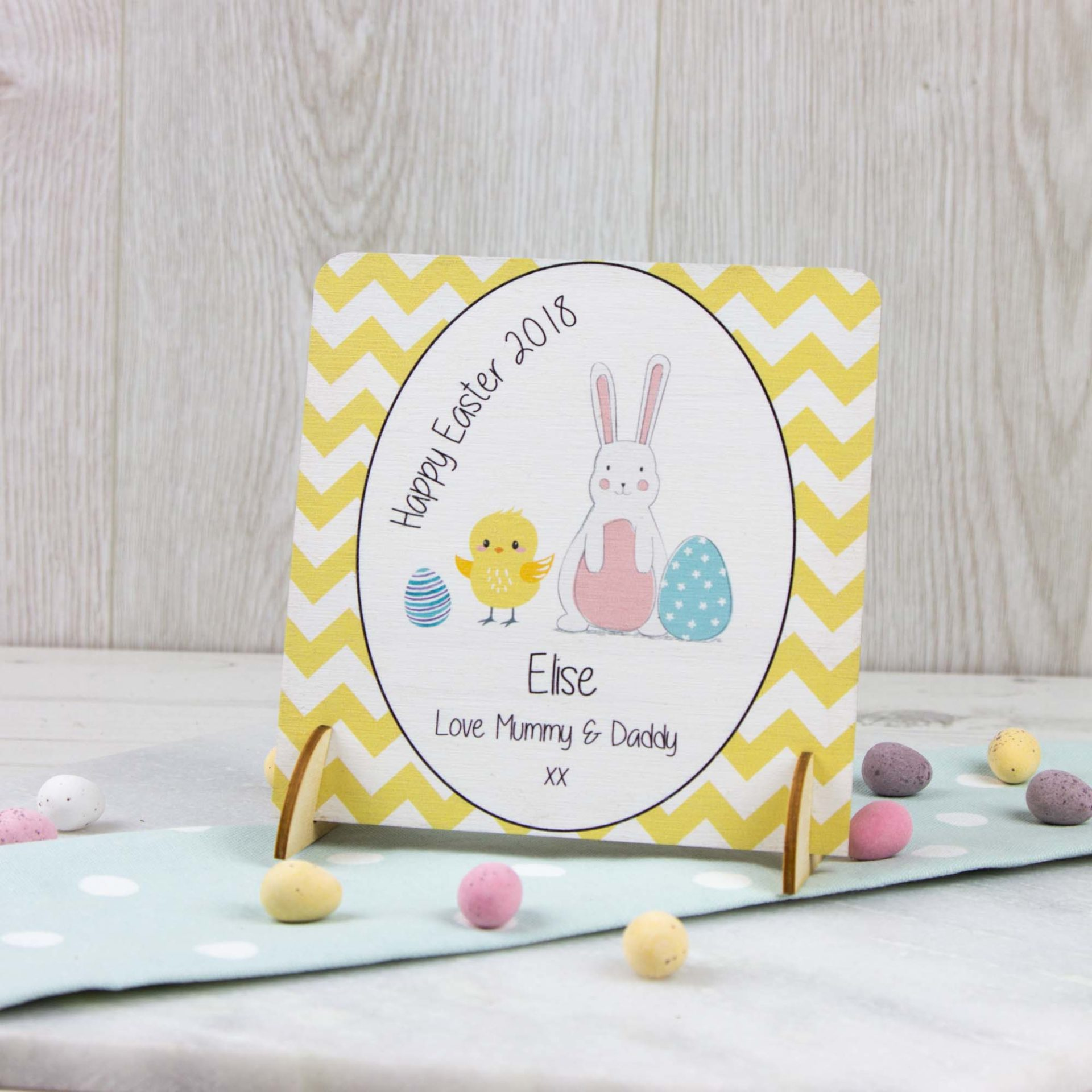 Easter Plaque Standing Card The Laser Boutique
