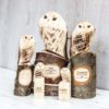 Personalised Wooden Owl Hand Carved