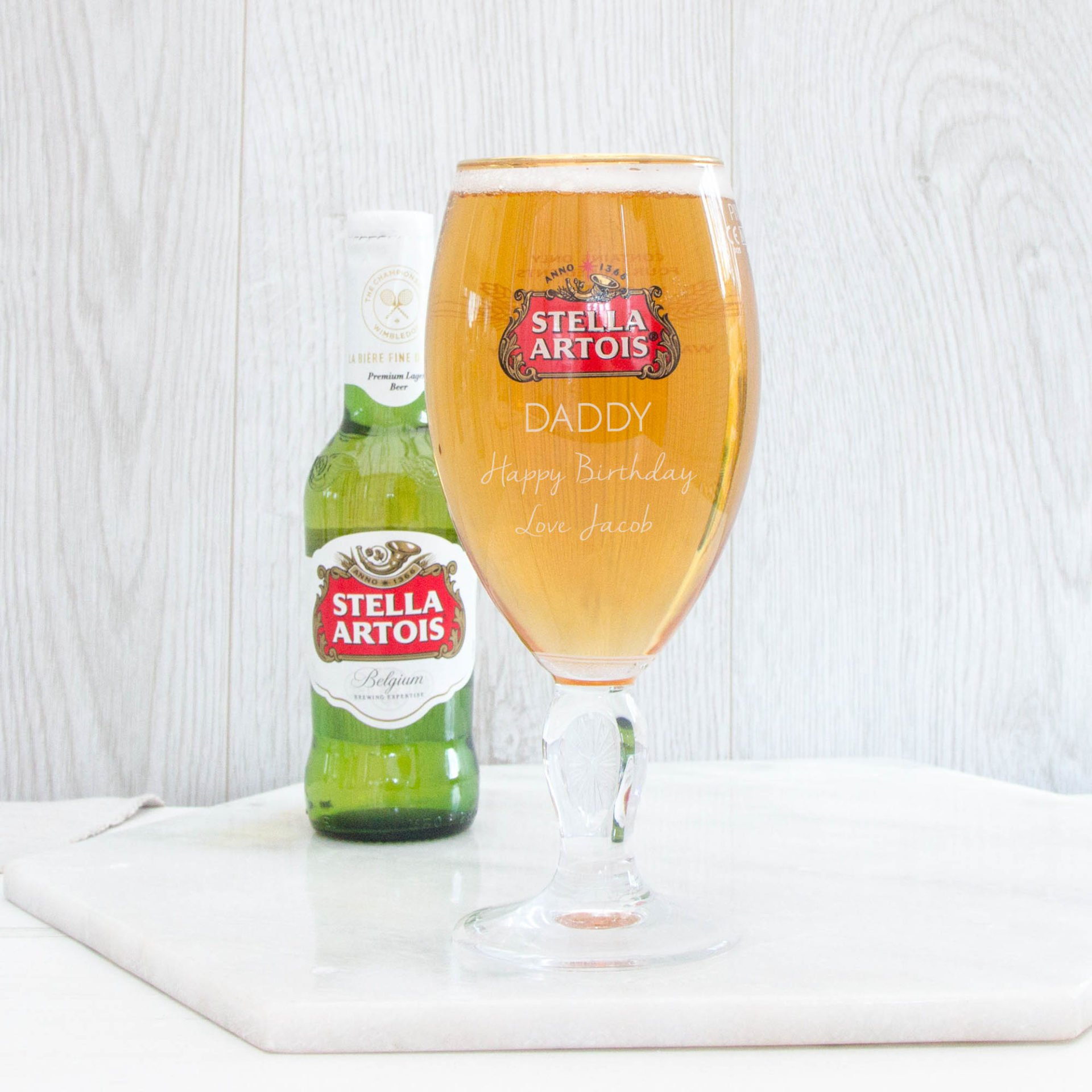 Stella Artois Personalised Glass Free Postage The