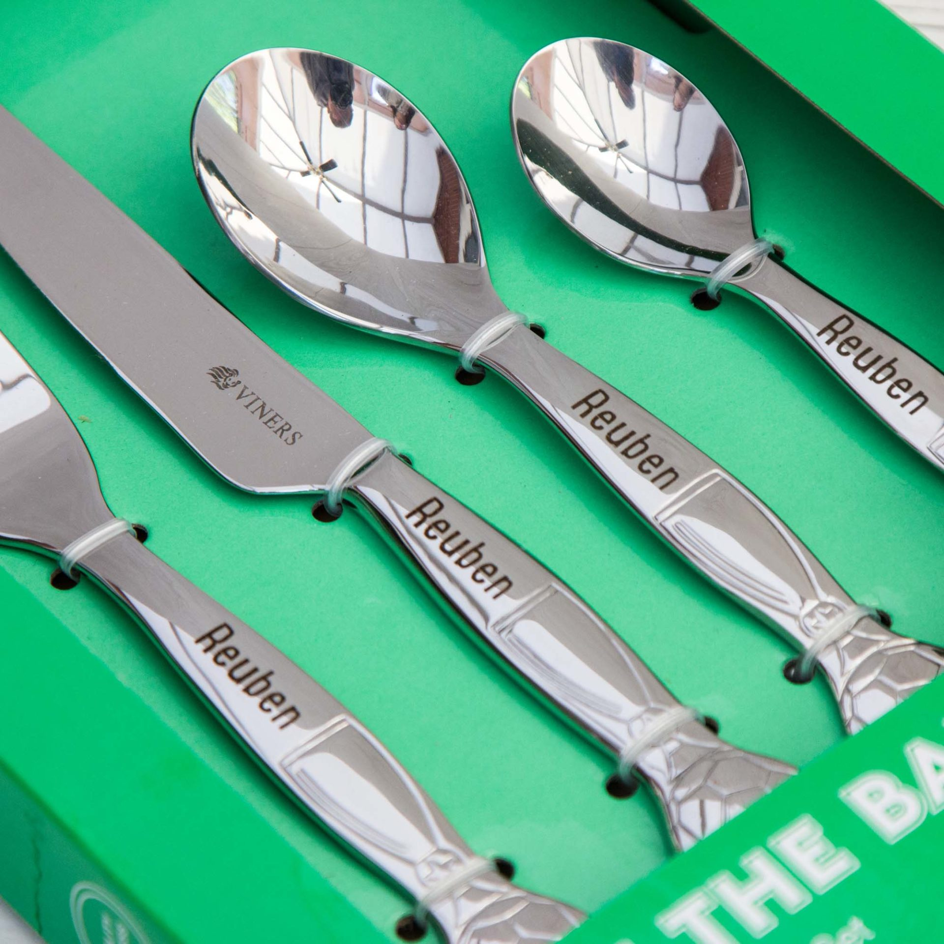 Children Cutlery Set Personalised Football The Laser