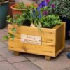 Flower Planter Small Trug Personalised