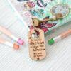 Personalised Teacher Keyring Big Heart